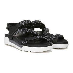 Ryka Black Rowana Elastic Gore Sport Sandals NIB